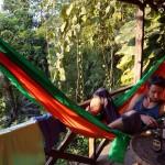 unsere Errungenschaft aus Thailand: eine Hängematte