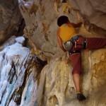 zum entdampfen vor der Hitze, Klettern in der Höhle