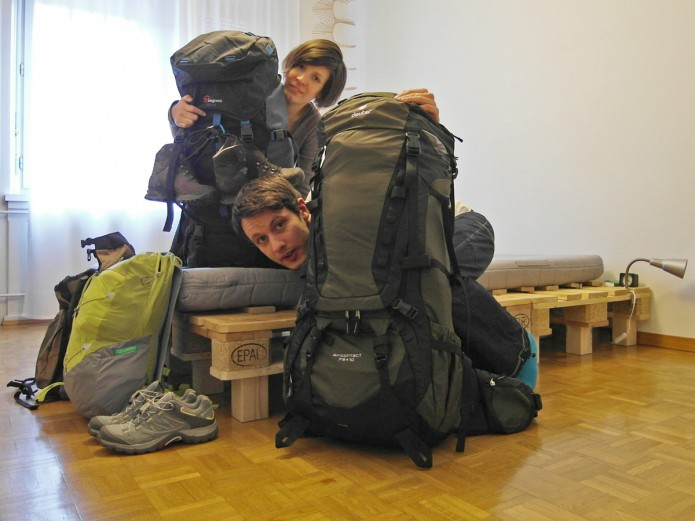 Zwei Säcke gehn auf Reise